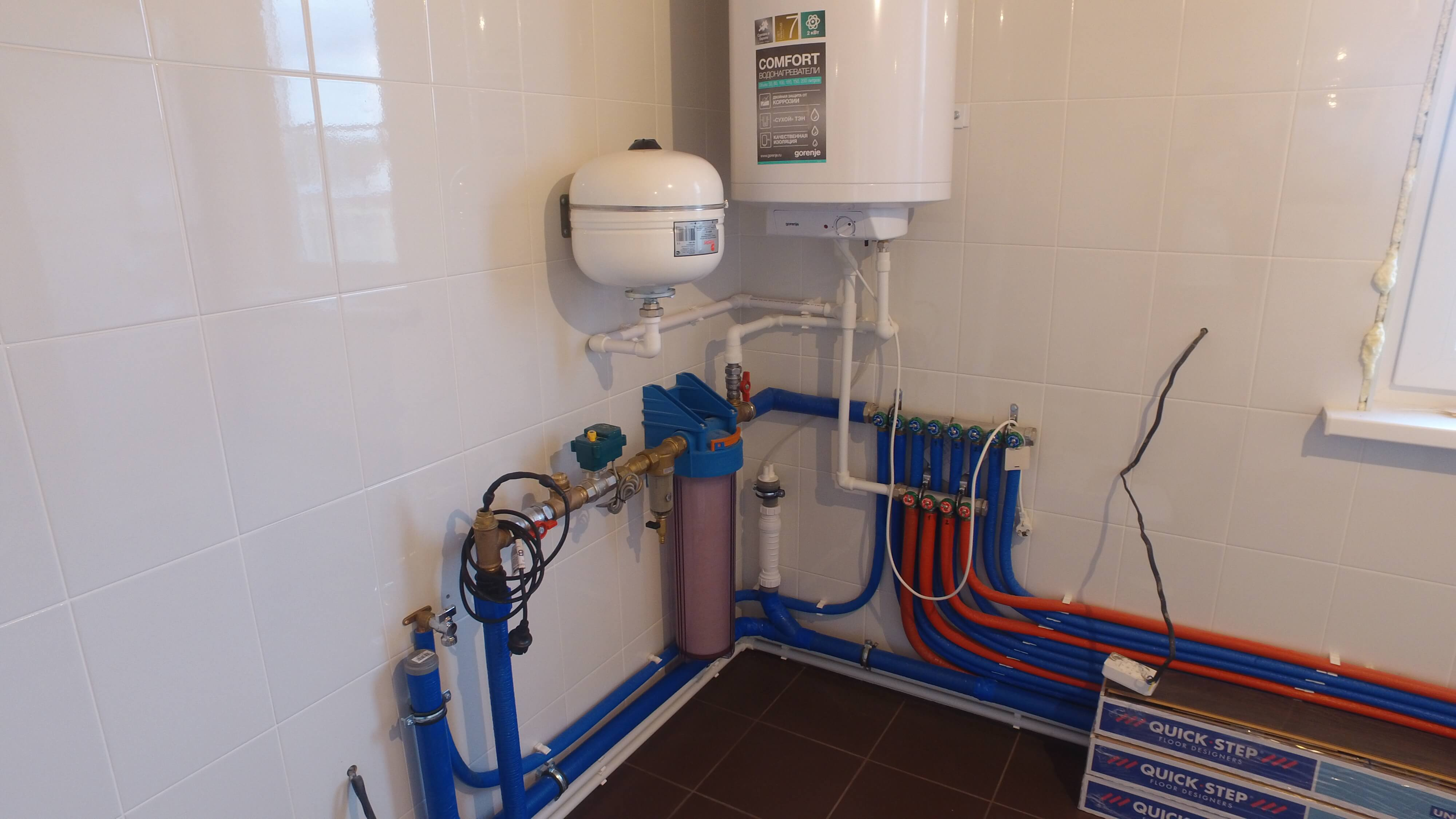 водопровод в доме из сип панелей