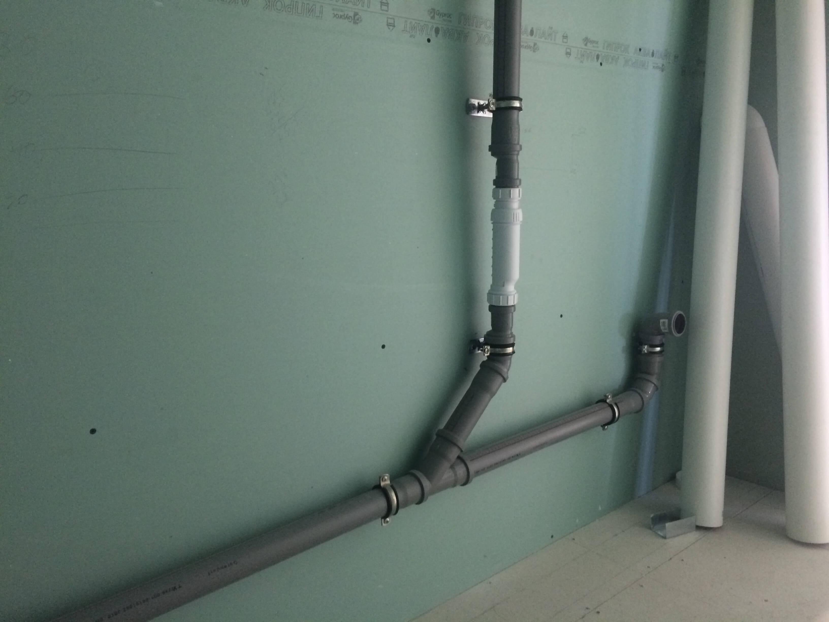 канализация в доме из сип панелей