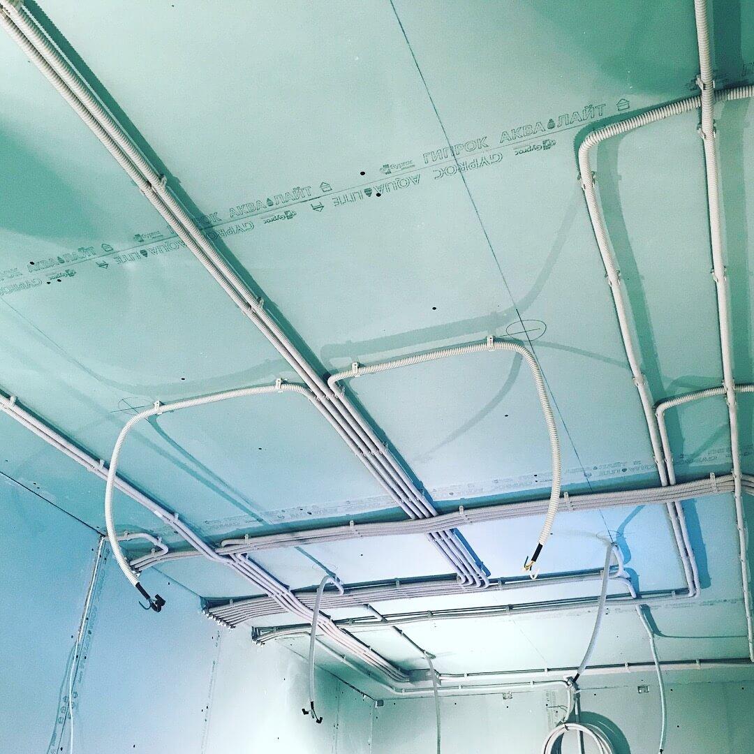 монтаж электрики в сип доме