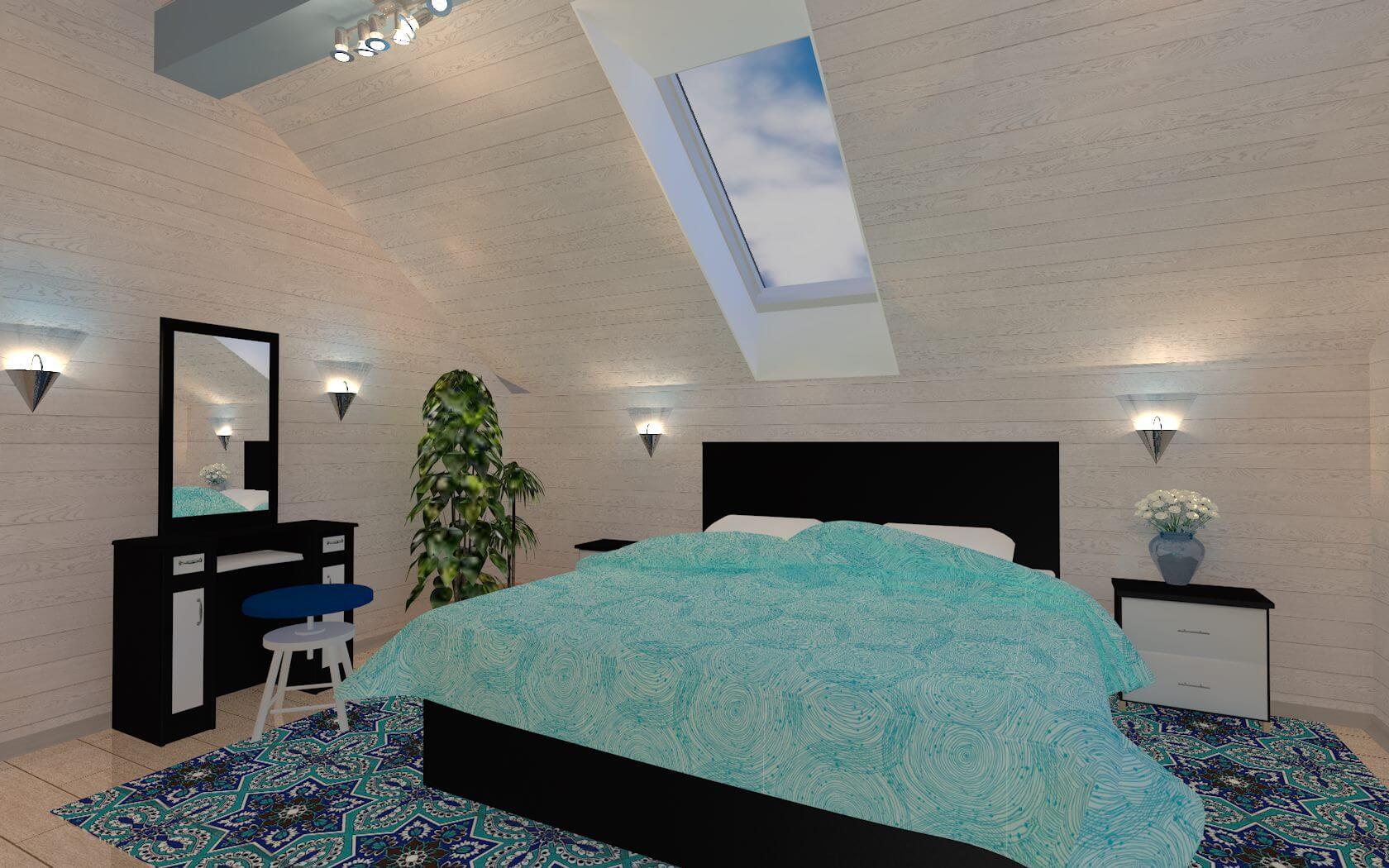 3D визуализация отделки дома из сип-пенелей